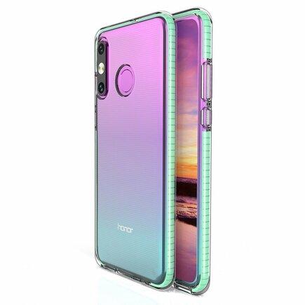 Spring Case gelové pouzdro s barevným rámem Huawei P30 Lite mátově zelené