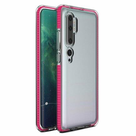 Spring Case gelové pouzdro s barevným rámem Mi Note 10 / Mi Note 10 Pro / Mi CC9 Pro tmavě růžové