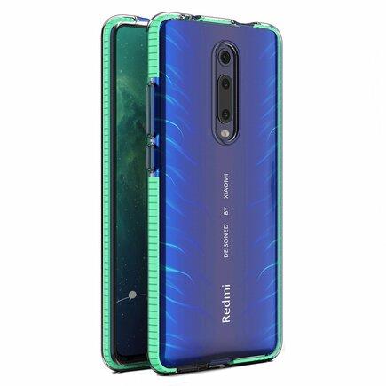 Spring Case gelové pouzdro s barevným rámem Xiaomi Mi 9T / Xiaomi Mi 9T Pro mátově zelené