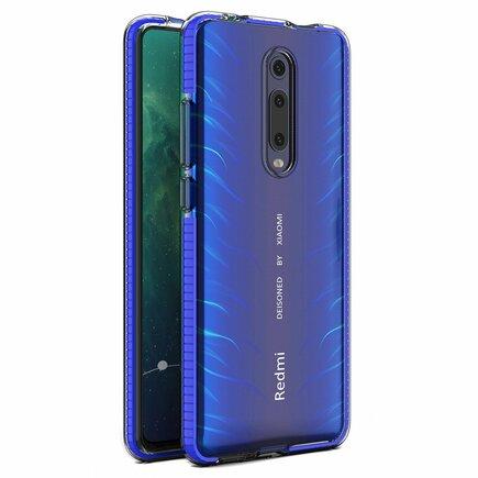 Spring Case gelové pouzdro s barevným rámem Xiaomi Mi 9T / Xiaomi Mi 9T Pro tmavě modré