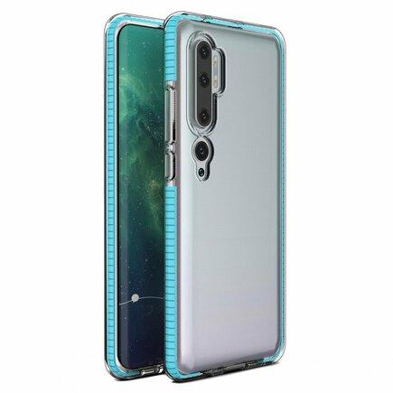 Spring Case gelové pouzdro s barevným rámem Xiaomi Mi Note 10 / Mi Note 10 Pro / Mi CC9 Pro světle modré