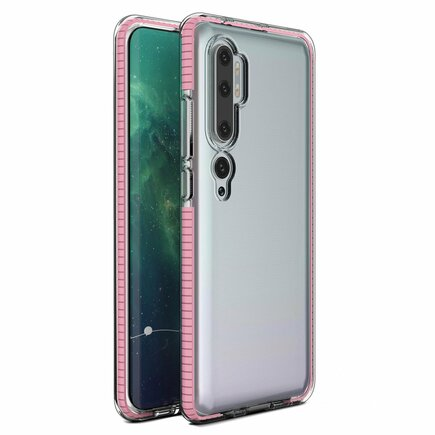 Spring Case gelové pouzdro s barevným rámem Xiaomi Mi Note 10 / Mi Note 10 Pro / Mi CC9 Pro světle růžové
