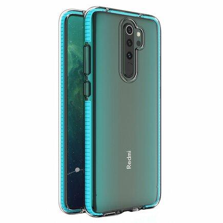 Spring Case gelové pouzdro s barevným rámem Xiaomi Redmi Note 8 Pro světle modré