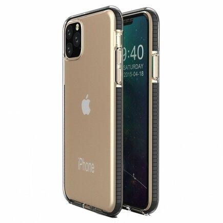 Spring Case gelové pouzdro s barevným rámem iPhone 11 Pro černé