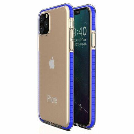 Spring Case gelové pouzdro s barevným rámem iPhone 11 Pro tmavě modré