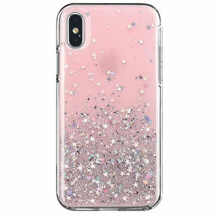 Star Glitter lesklé pouzdro s brokátem Huawei P30 Lite růžové