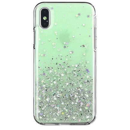 Star Glitter lesklé pouzdro s brokátem iPhone XS Max zelené