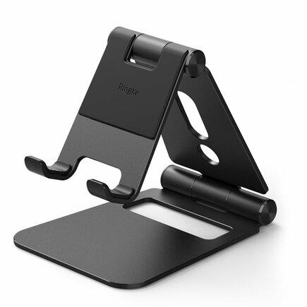 Super Folding Stand skládaný podstavec na telefon tablet černý (ACST0010)