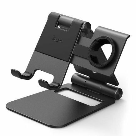 Super Folding Stand skládaný podstavec na telefon tablet a Samsung Galaxy Watch Active černý (ACST0009)