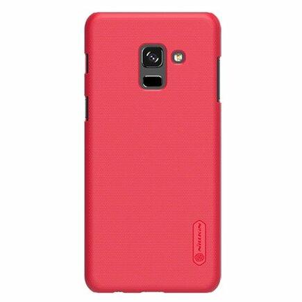 Super Frosted Shield zesílené pouzdro + fólie Samsung Galaxy A8 2018 A530 červené