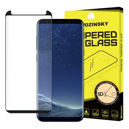 Super odolné tvrzené sklo 5D Full Glue přes celý displej s rámem Samsung Galaxy S8 G950 černé