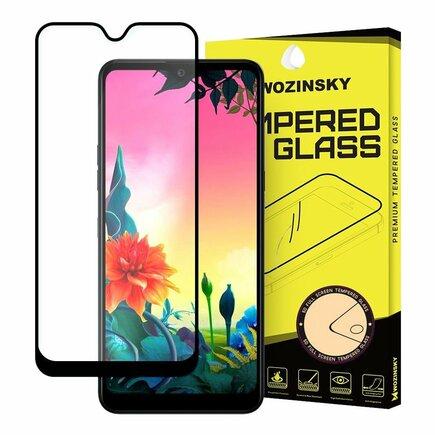 Super odolné tvrzené sklo Full Glue na celý displej s rámem Case Friendly LG K50S černé