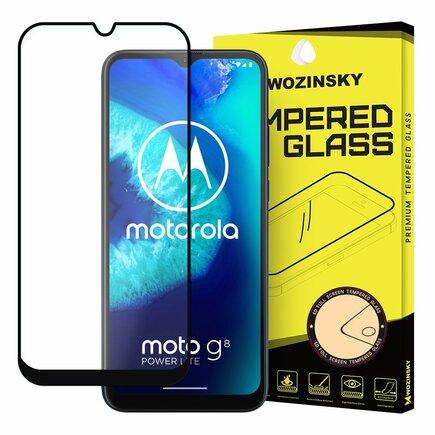 Super odolné tvrzené sklo Full Glue na celý displej s rámem Case Friendly Motorola Moto G8 Power Lite černé