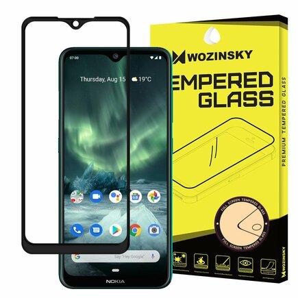 Super odolné tvrzené sklo Full Glue na celý displej s rámem Case Friendly Nokia 7.2 / Nokia 6.2 černé