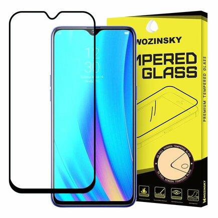 Super odolné tvrzené sklo Full Glue na celý displej s rámem Case Friendly Realme 3 Pro černé