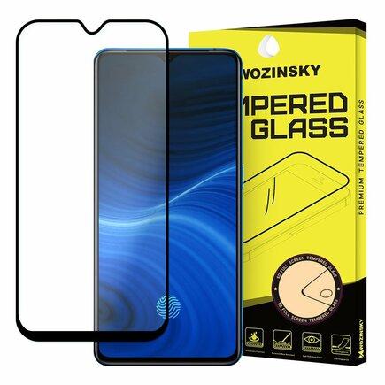 Super odolné tvrzené sklo Full Glue na celý displej s rámem Case Friendly Realme X2 Pro černé