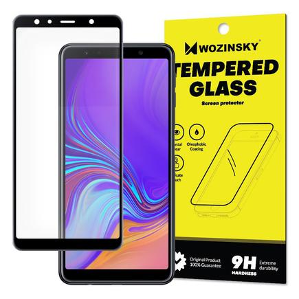 Super odolné tvrzené sklo Full Glue na celý displej s rámem Case Friendly Samsung Galaxy A7 2018 A750 černé