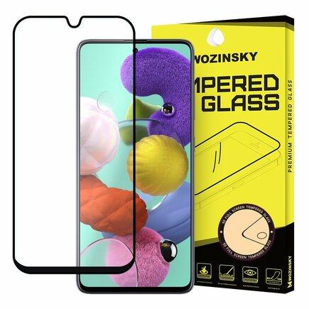Super odolné tvrzené sklo Full Glue na celý displej s rámem Case Friendly Samsung Galaxy A71 černé