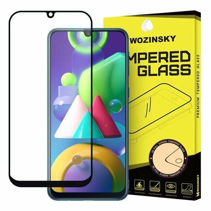 Super odolné tvrzené sklo Full Glue na celý displej s rámem Case Friendly Samsung Galaxy M21 černé