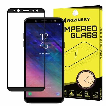 Super odolné tvrzené sklo Full Glue přes celý displej s rámem Case Friendly Samsung Galaxy A6 2018 A600 černé