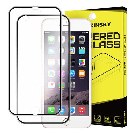 Tvrzené sklo iPhone 6S 6 přes celý displej s hliníkovým krytem na zadní část černé