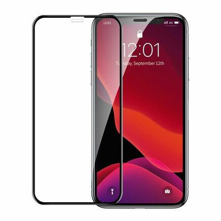 Tvrzené sklo na celý displej Full Screen s rámem 0.23mm 9H iPhone 11 Pro Max / iPhone XS Max + pozicionér černé (SGAPIPH65-APE01)