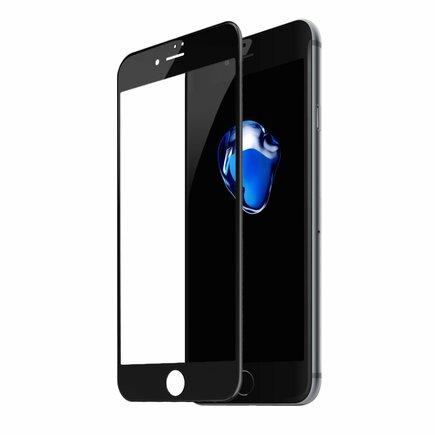 Tvrzené sklo na celý displej Full Screen s rámem 0.23mm 9H iPhone 8 Plus / iPhone 7 Plus černé (SGAPIPH8P-GPE01)