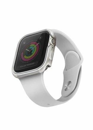 UNIQ Pouzdro Valencia Apple Watch Series 5 / 4 44MM stříbrné/titanium silver