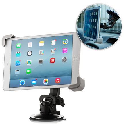Univerzální držák do auta na tablet (7-10 palců) na sklo černý
