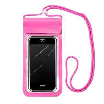Univerzální voděodolné pouzdro na telefon (max 6,6'') růžové