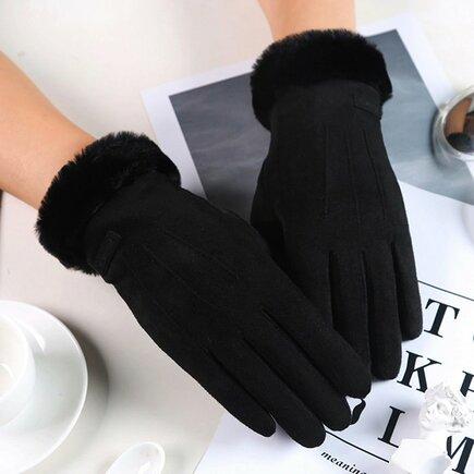 Univerzální zimní rukavice pro dotykové displeje černé