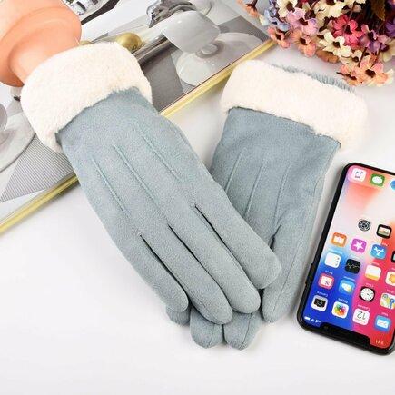 Univerzální zimní rukavice pro dotykové displeje modré