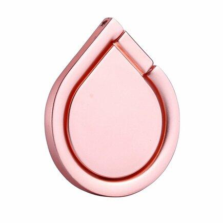 Vícefunkční ring na telefon Water Drop podstavec růžový