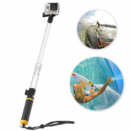 Voděodolná selfie tyč pro sportovní kamery GoPro SJCAM