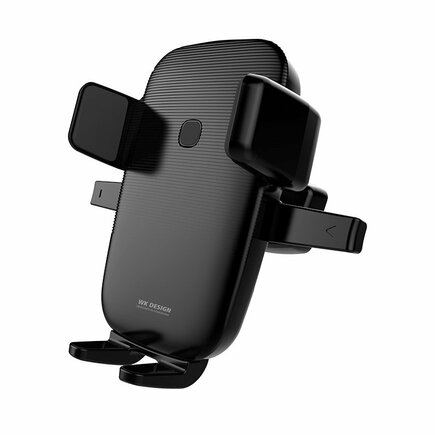 WK Design držák do auta na ventilační mřížku + bezdrátová nabíječka Qi 10W černý (WP-U47 black)