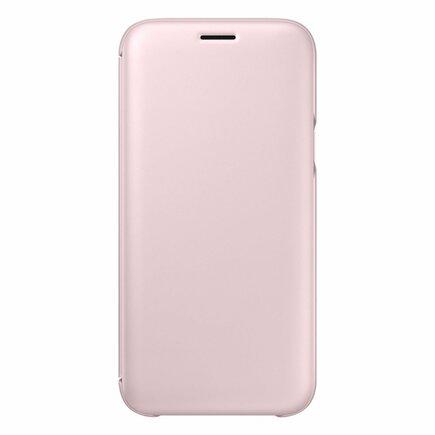 Wallet Cover pouzdro bookcase s kapsičkou na kartu Samsung Galaxy J5 2017 růžové (EF-WJ530CPEGWW)