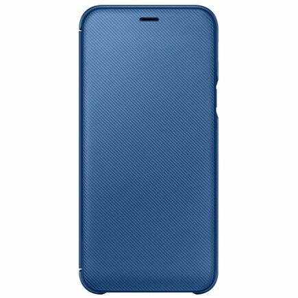 Wallet Cover pouzdro bookcase s kapsou pro kartu Samsung Galaxy A6 A600 modré (WA600CLE)