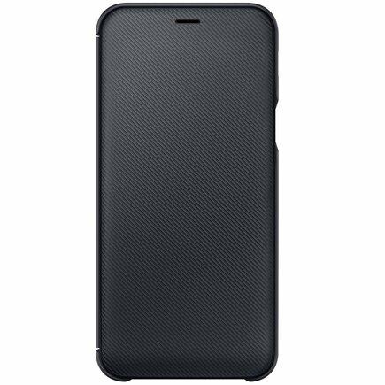 Wallet Cover pouzdro bookcase s kapsou pro karty Samsung Galaxy A6 A600 černé (WA600CBE)