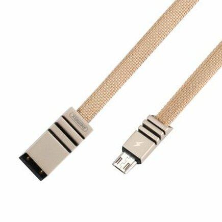 Weave RC-081m opletený kabel USB / micro USB 2.1 1M krémový