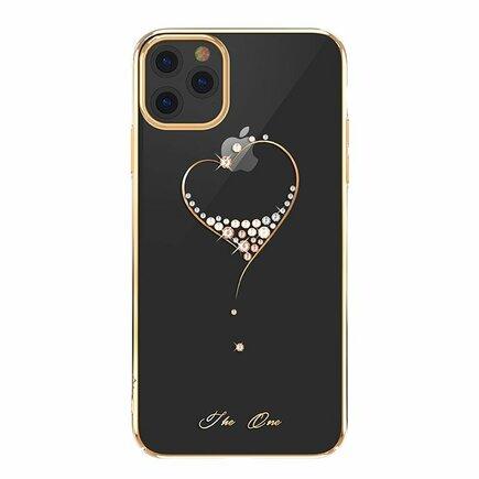 Wish Series pouzdro zdobené originálními krystaly Swarovski iPhone 11 Pro Max zlaté