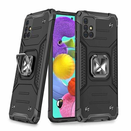 Wozinsky Ring Armor pancéřové hybridní pouzdro + magnetický úchyt Samsung Galaxy A51 5G stříbrné