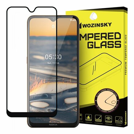 Wozinsky super odolné tvrzené sklo Full Glue na celý displej s rámem Case Friendly Nokia 5.3 černé