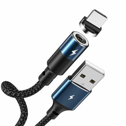 Zigie magnetický kabel USB / micro USB 1.2m 3A černý (RC-102m black)