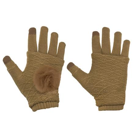 Zimní dámské rukavice pro dotykové displeje 2v1 se zateplením na dlaních béžové