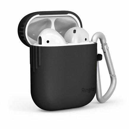 AirPods Case silikonové pouzdro na sluchátka AirPods 2gen / 1gen černé (ACEC0006)