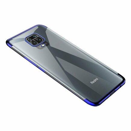 Clear Color case gelové pouzdro s metalickým rámem Xiaomi Redmi 10X 4G / Xiaomi Redmi Note 9 modré