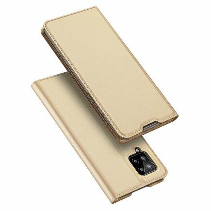 DUX DUCIS Skin Pro pouzdro s klapkou Samsung Galaxy A42 5G zlaté