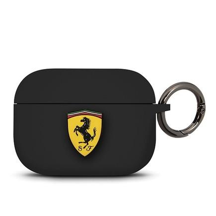 Ferrari Silikonové Pouzdro pro Airpods Pro černé (EU Blister)