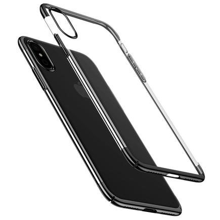 Glitter Case průsvitné pouzdro iPhone X černé