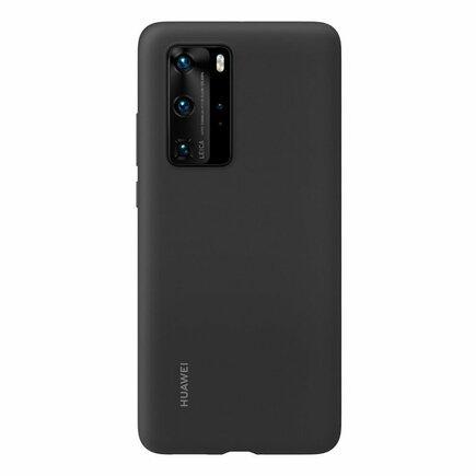 Huawei Silicone Case elastické silikonové pouzdro Huawei P40 Pro černé (51993797)
